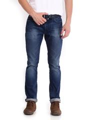 Tommy Hilfiger Men Dark Blue Scanton Kendo Worn Slim Fit Jeans