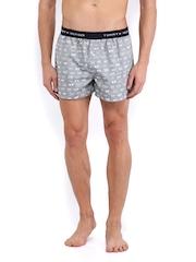 Tommy Hilfiger Men Grey Printed Bowe Boxers A4AB2024