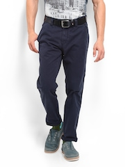 Men Navy Blue Mercer Chino Trousers Tommy Hilfiger