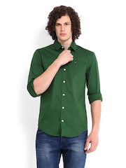 Tommy Hilfiger Men Green Sabim Slim Fit Smart-Casual Shirt
