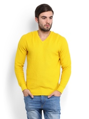 Tommy Hilfiger Men Yellow Robin Sweater