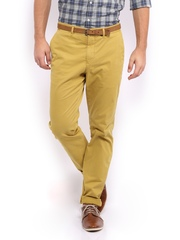 Tommy Hilfiger Men Mustard Yellow Hudson Fit Chino Trousers