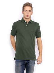Tommy Hilfiger Men Green New Tommy Polo T-Shirt