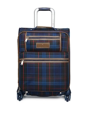 Tommy Hilfiger Middlebury Collection Unisex Navy & Black Checked Trolley Suitcase