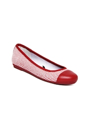 Tommy Hilfiger Women Red & White Ballerinas
