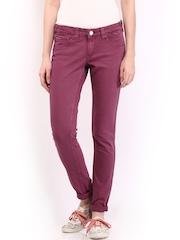 Tommy Hilfiger Women Light Burgundy Skinny Fit Sophie Jeans