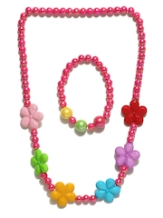 ToniQ Girls Pink Beaded Jewellery Set