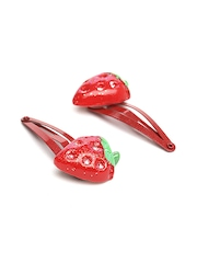 ToniQ Girls Set of 2 Red Strawberry Hair Clips