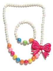 ToniQ Girls White Beaded Jewellery Set