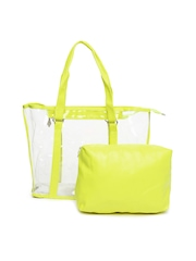 ToniQ Neon Yellow Handbag