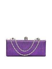ToniQ Purple Box Clutch