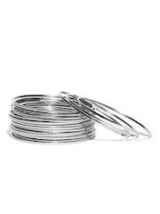 ToniQ Set of 18 Silver-Toned Bangles