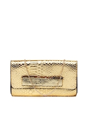 ToniQ Gold Toned Clutch