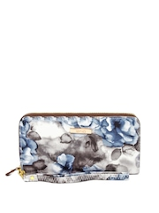 ToniQ Women Grey & Blue Wallet
