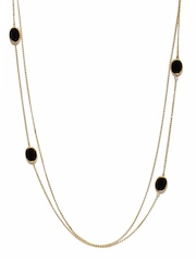 ToniQ Gold Toned & Black Necklace