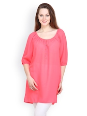 Tops And Tunics Women Coral Pink Tunic