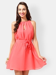 Tops and Tunics Coral Pink Fit & Flare Dress