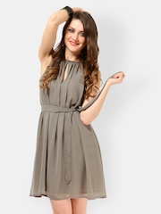 Tops and Tunics Grey Fit & Flare Dress
