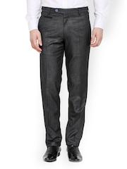 Torino Men Black Tailored Fit Formal Trousers