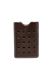 Tortoise Men Brown Leather Card Holder