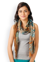 Toscee Women Multicoloured Digital Printed Wool Blend Stole