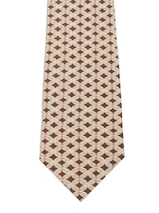 Tossido Brown Printed Silk Tie