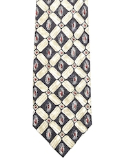 Tossido Blue & White Printed Silk Tie