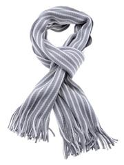 Tossido Unisex Grey & White Striped Muffler