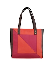 Toteteca Orange & Pink Shoulder Bag