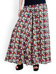 Trend Arrest Women Multicoloured Floral Printed Palazzo Trousers