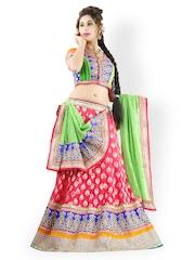 Triveni Multicoloured Semi-Stitched Lehenga Choli Material