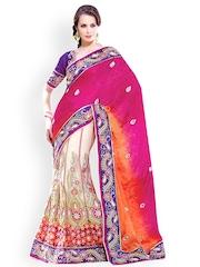 Triveni Multicoloured Embroidered Chiffon Lehenga Saree