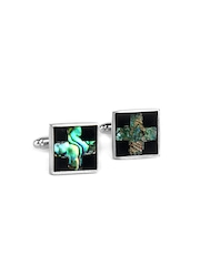 Turtle Black & Steel Toned Cufflinks