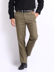 Turtle Men Brown Slim Fit Formal Trousers