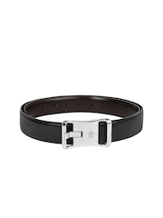 Turtle Men Black Leather Belt