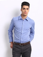 Turtle Men Blue Tailored Slim Fit Formal Shirt