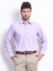 Turtle Men Lavender Tailored Slim Fit Formal Shirt