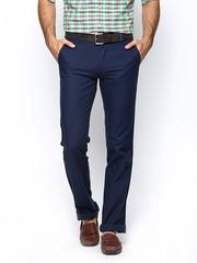 Turtle Men Navy Slim Fit Trousers