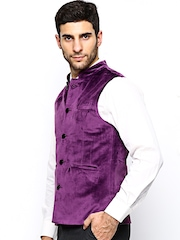 Turtle Men Purple Nehru Jacket
