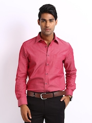 Turtle Men Red Slim Fit Formal Shirt