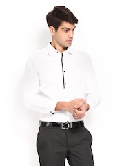 Turtle Men White Slim Fit Casual Shirt