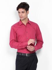 Turtle Men Pink Slim Fit Formal Shirt
