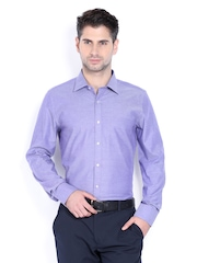 Turtle Men Purple Slim Fit Formal Shirt