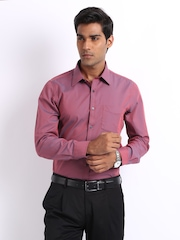 Turtle Men Pink & Blue Two Tone Slim Fit Formal Shirt