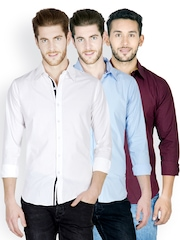 Tuscans Men Pack of 3 Casual Shirts