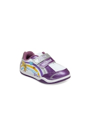 Tweety Girls White & Purple Casual Shoes