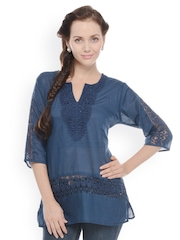 U&F Women Navy Tunic