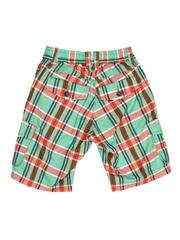 U.S. Polo Assn. Kids Boys Green & Orange Checked Shorts