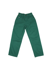U.S. Polo Assn. Kids Boys Green Trousers