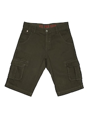 U.S. Polo Assn. Kids Boys Olive Green Shorts